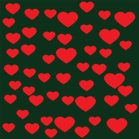 pink heart: Pink Heart with green background Illustration