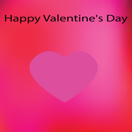 Art design for happy valentine day with pink heart and background Ilustracja