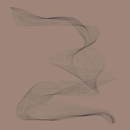 Black line movement with grey background Ilustracja