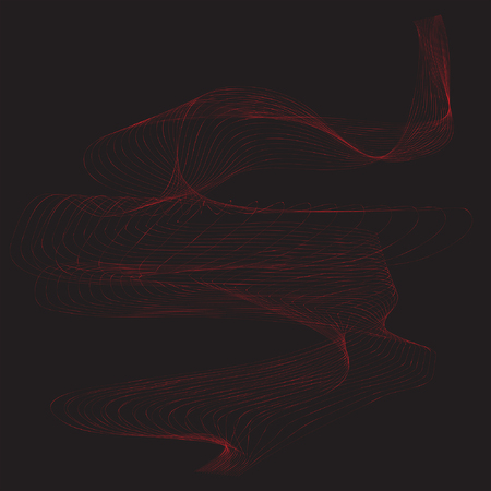 Red line movement with black background