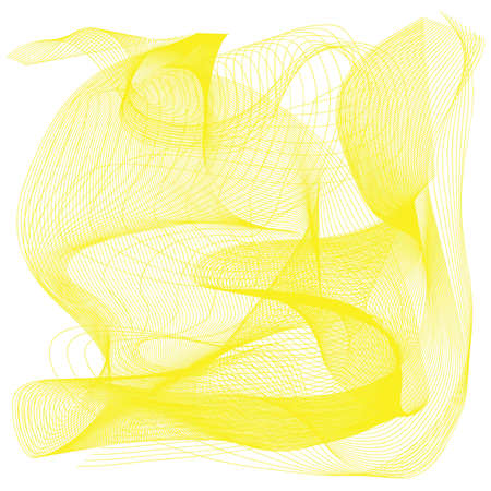 yellow line: Yellow line movement with white background Stock Photo
