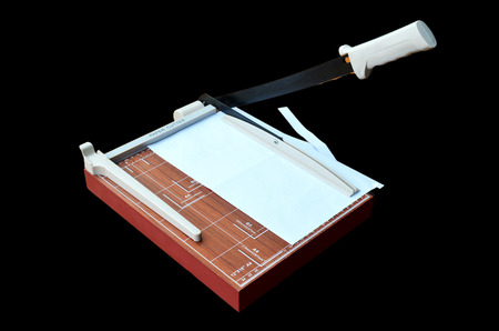 cutter: Paper Cutter cutting paper A4 Stock Photo