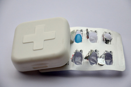 medicine box: Medicine box and sysblom of International Red Cross and Red Crescent Movement or Red Cross
