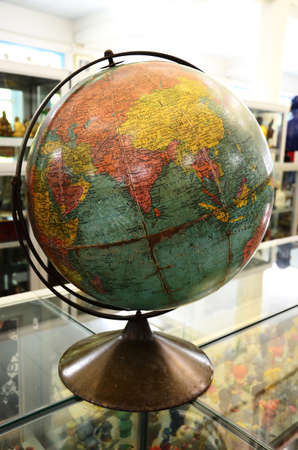 Simulation Globe with a map of the world