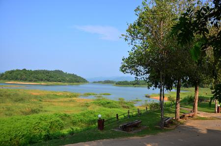 kaeng: View of kaeng krachan dam in Kaeng Krachan largest national park in Phetchaburi, Thailand.