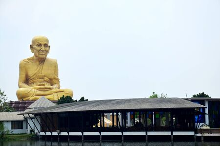 biggest: Biggest statue of Luang Pu Thuat at Buddha Uttayarn Maharach in Ayutthaya, Thailand