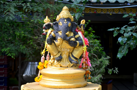 lord ganesha: Ancient Ganesha or Ganesh figure : Lord of Success (The Hindu Elephant-Deity)