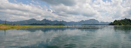 sok: Panorama of lake at Khao Sok National Park in Surat Thani, Thailand Editorial