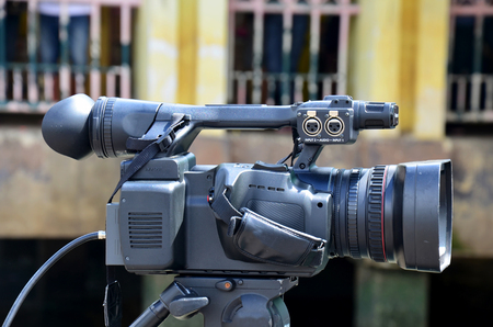 filmmaker: Digital Camcorder Video at Long boat Racing at Chaopraya river in Nonthaburi, Thailand