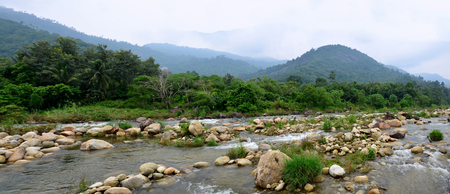 Panorama Taha Waterfalls at Ban Khiri Wong village in Nakhon Si Thammarat, Thailand