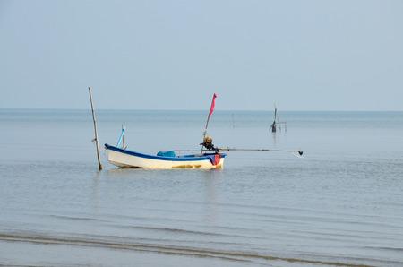surat: Fishing Boat floating in Andaman Sea at Surat Thani, Thailand