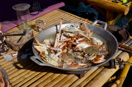 blue swimmer crab: Cooking Steamed Flower crab, Blue crab, Blue swimmer crab, Blue manna crab, Sand crab
