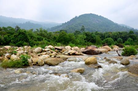 Taha Waterfalls at Ban Khiri Wong village in Nakhon Si Thammarat, Thailand 版權商用圖片