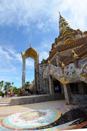 buddhism prayer belief: People travel and pray buddha at Wat Pha Sorn Kaew on December 21, 2015 in Phetchabun, Thailand Editorial