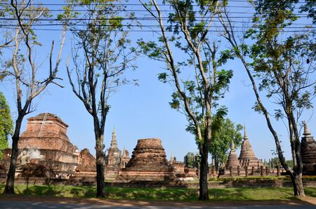 associated: View of Ancient building at Historic Town of Sukhothai and Associated Historic Towns in Sukhothai, Thailand