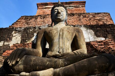 associated: Old big buddha statue and Ancient building at Historic Town of Sukhothai and Associated Historic Towns in Sukhothai, Thailand
