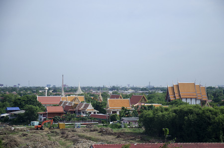 nonthaburi province: View of Nonthaburi city from MRT Purple Line skytrain running go to Bangkok on June 20, 2016 in Nonthaburi Province, Thailand Editorial