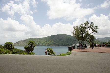 phrom: Traveller travel and visit Laem Phrom Thep Cape Viewpoint on June 9, 2016 in Phuket, Thailand Editorial