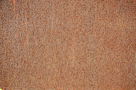 oxidate: Grunge texture rust colored on surface of steel wall background
