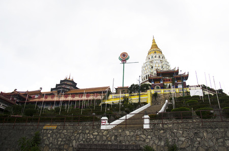 Building and decoration of Kek Lok Si Chinese and Buddhist temple for people visit and pray in Georgetown on April 26, 2016 in Penang, Malaysia.