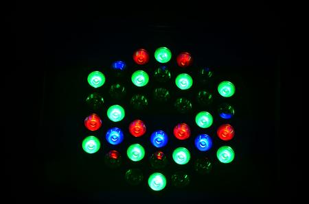 laser lights: Colorful lighting for show on stage