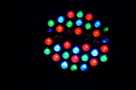 stage lighting: Colorful lighting for show on stage