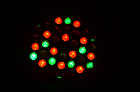 Colorful lighting for show on stage