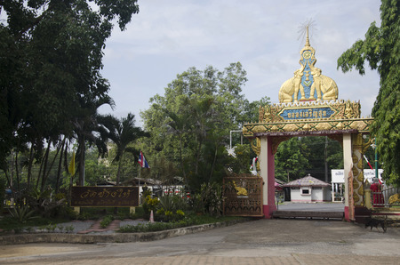 pattani thailand: Wat Chang Hai Ratburanaram for people visit and pray Luang Pu Thuat on July 13, 2016 in Pattani southern provinces of Thailand