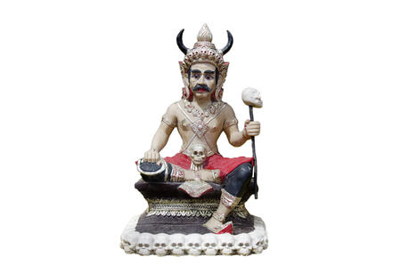 Faith of buddhism about Figure statue Angel of Death or Prince of Devils and ghosts at Psychopomp