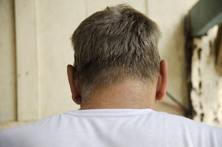 back of head: Back head of English people old man