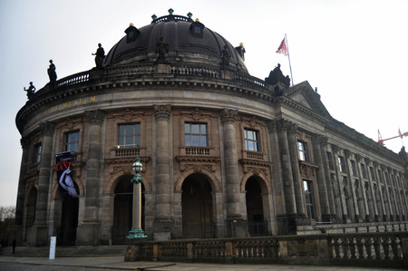 bode: Bode Museum is one of the group of museums on the Museum Island for German people and foreigner travelers visit with spree river on November 9, 2016 in Berlin, Germany