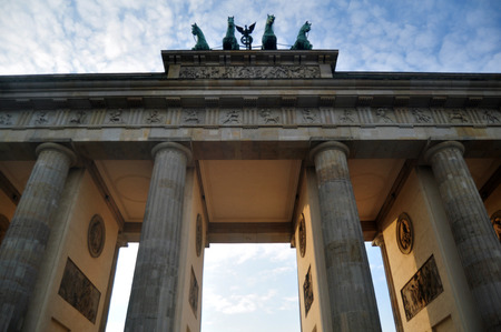 German people and foreingner travelers walking for travel and visit Brandenburg Gate is 18th-century neoclassical monument and icon of Berlin city on November 9, 2016 in Berlin, Germany