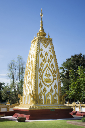 Wat Phra That Nong Bua Temple for thai people and foreigner travelers travel visit and praying buddha statue on September 19, 2017 in Ubon Ratchathani, Thailand
