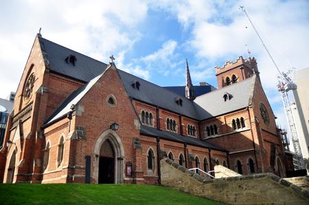 Die St. George's Cathedral für Australier und Ausländer besuchte Reisen und respektierte das Beten in Perth, Australien Standard-Bild