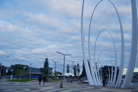 Spanda monument for Australian people and foreigner travelers visit travel and take photo at viewed from north side of Elizabeth Quay on May 29, 2016 in Perth, Australia