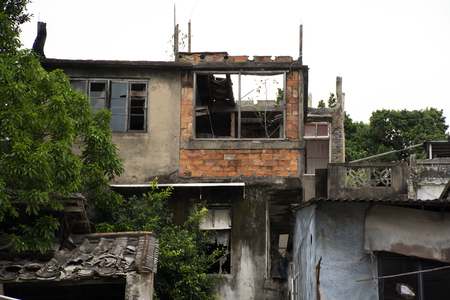 Abandoned house and old commercial buildings in old town area at Shantou downtown or Swatow city on May 9, 2018 in Guangdong, China 写真素材