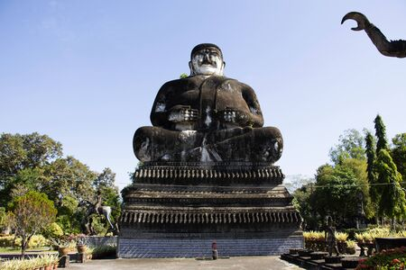 Sala Kaew Ku or Keoku fantastic concrete sculpture park quirky inspired by Buddhism for people visit travel at Nongkhai