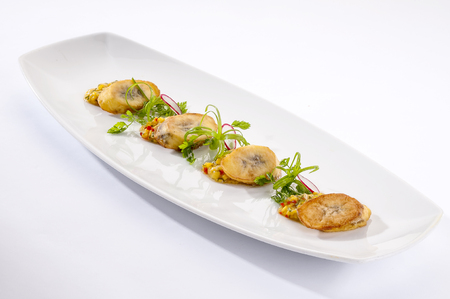 Delicious banana fritters for appetizer