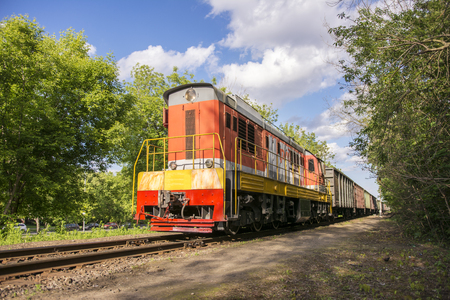 Moscow. Russia 27 may 2019. The Russian locomotive is intended for transportation of railway freight cars and tanks