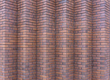 The red brick walls. Brick on the corner