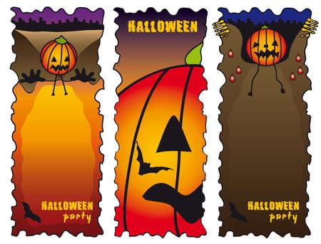halloween banners Stock Vector - 3686570