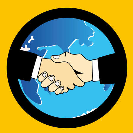 parley: el mundo apret�n de manos Vectores