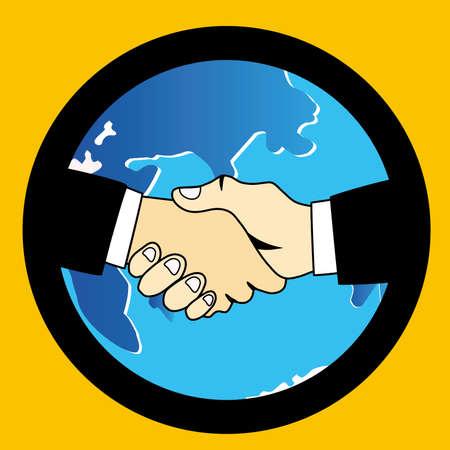 the world handshake Vettoriali