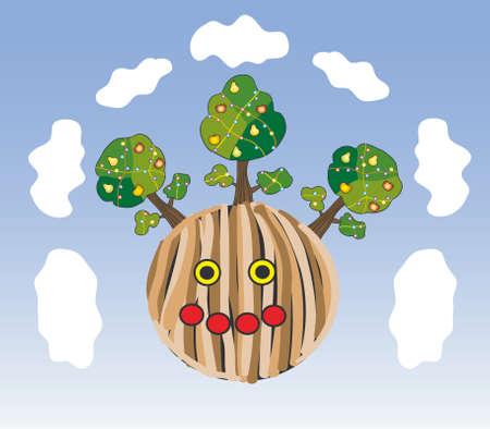 happy kirmes trees
