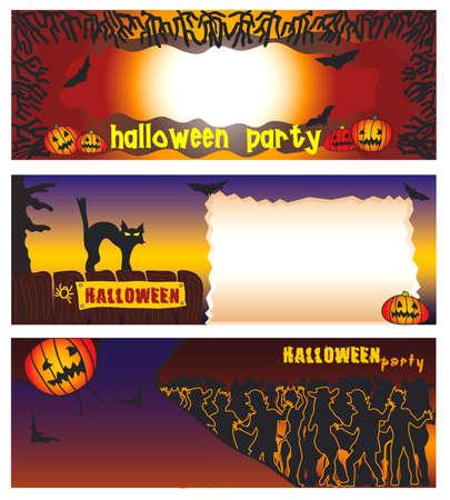 Halloween-Banner Standard-Bild - 3695697