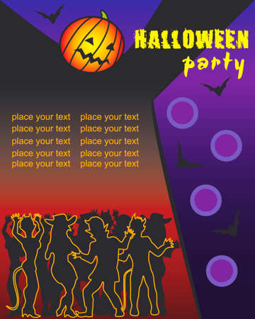 halloween party poster Stock Vector - 3695701