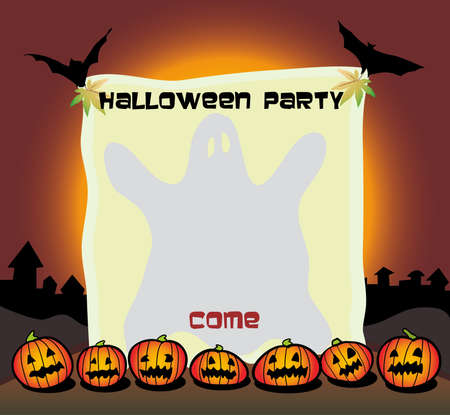 halloween party poster Иллюстрация