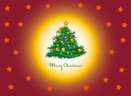 Allegro vettore albero di Natale Archivio Fotografico - 3829038