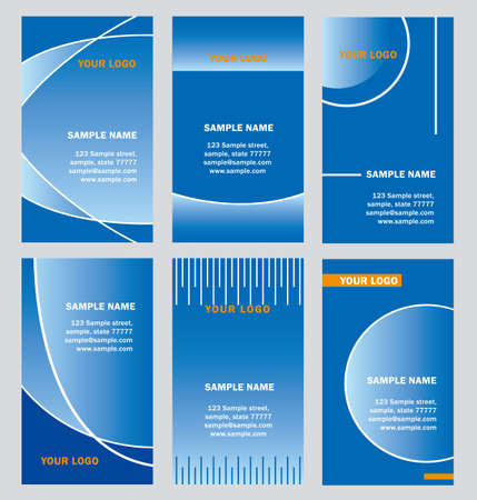 easy: easy editable vector blue business card Illustration
