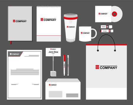 corporative: Corporate identity template set. Business stationery mock-up Illustration